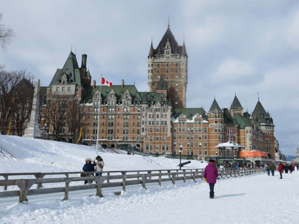 quebec city-chateau frontenac in winter