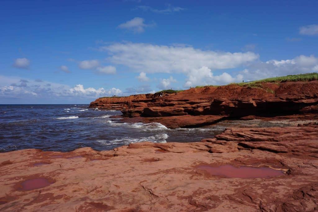 red stone cliffs-prince edward island