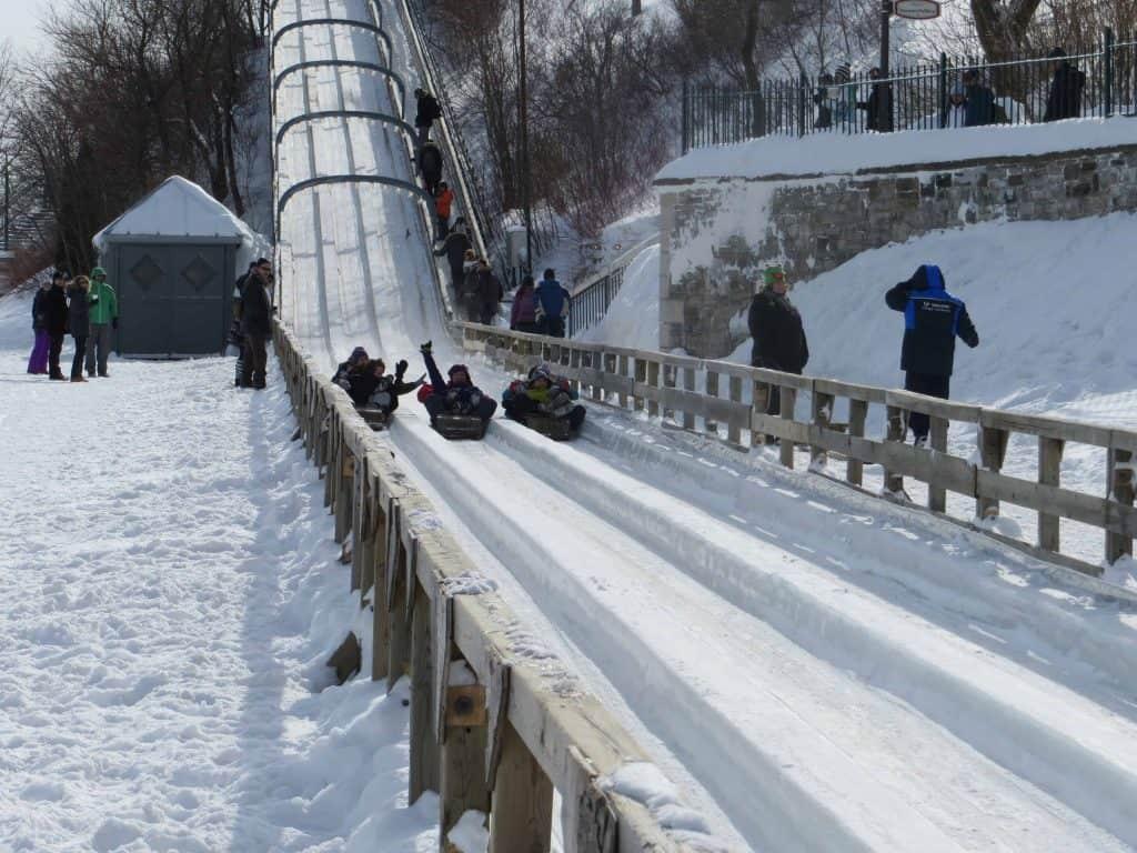 toboggan slide-dufferin terrace-quebec city