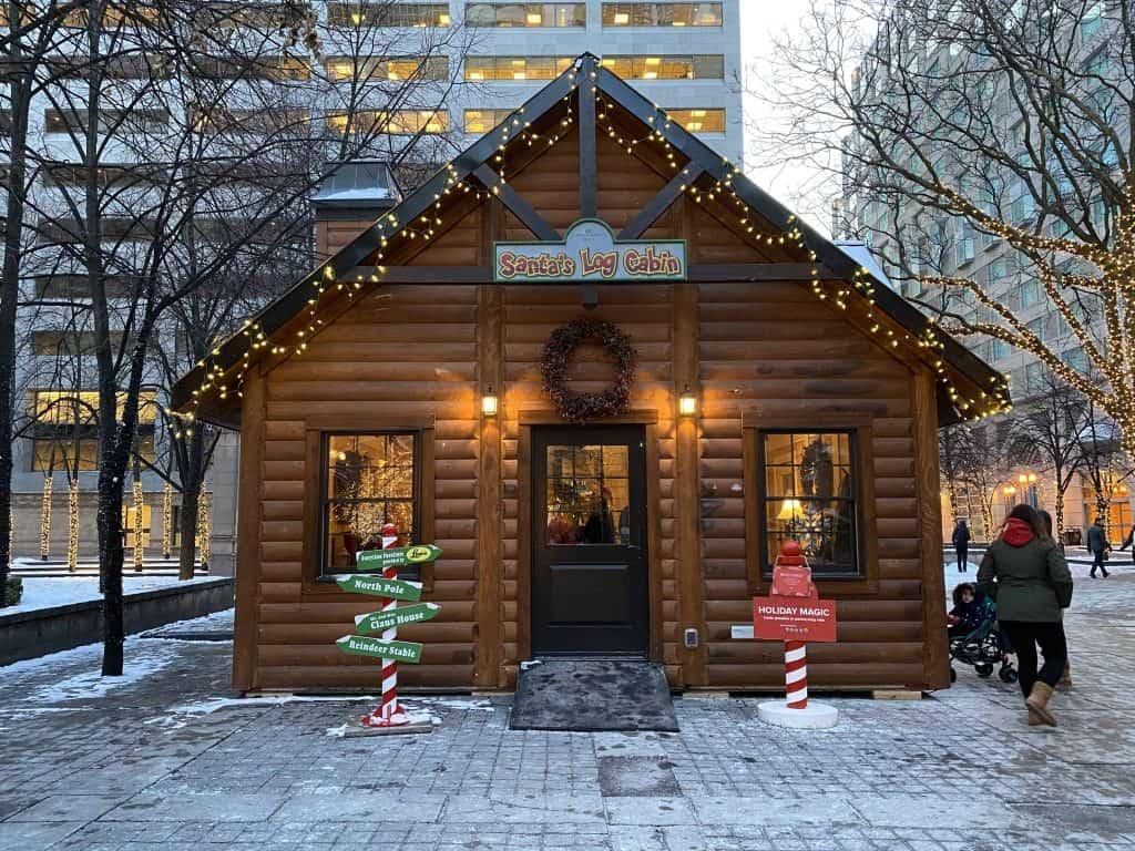 Santa's Log Cabin-Trinity Square-Toronto