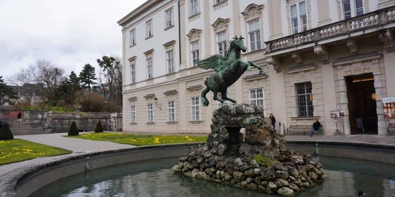 mirabell gardens-salzburg-pegasus statue