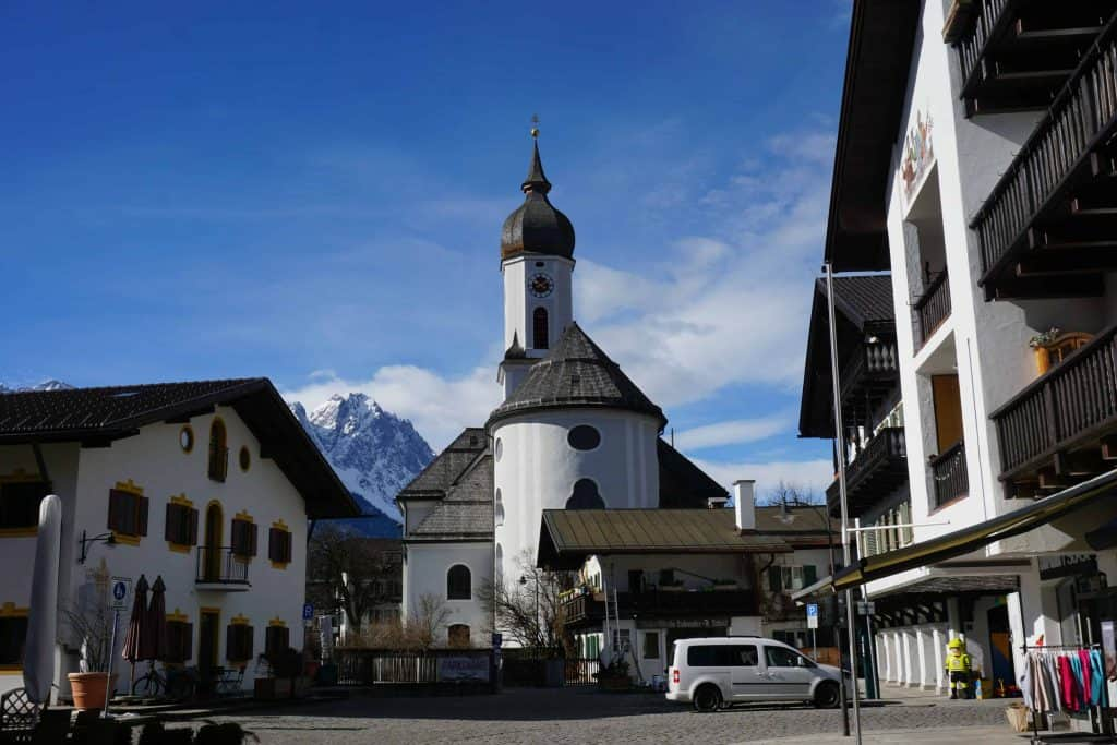 domed church in garmisch-partenkirchen