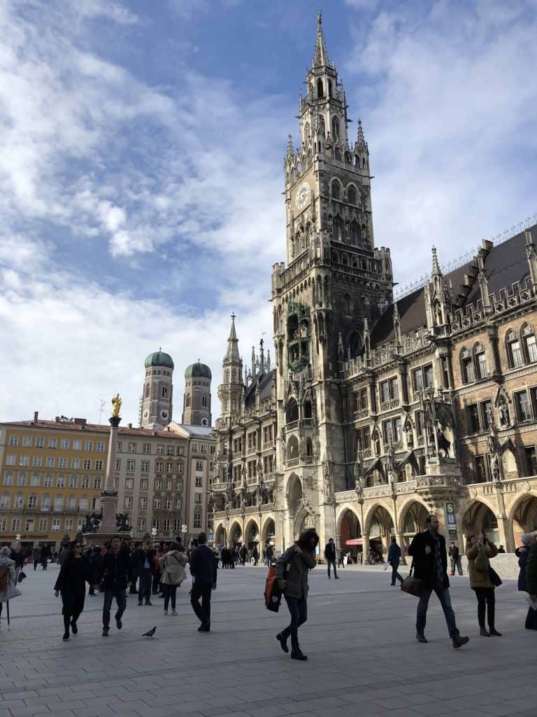 people walking in Marienplatz, Munich, Germany