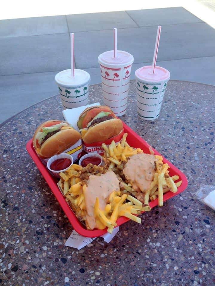 Meal at In-N-Out Burger