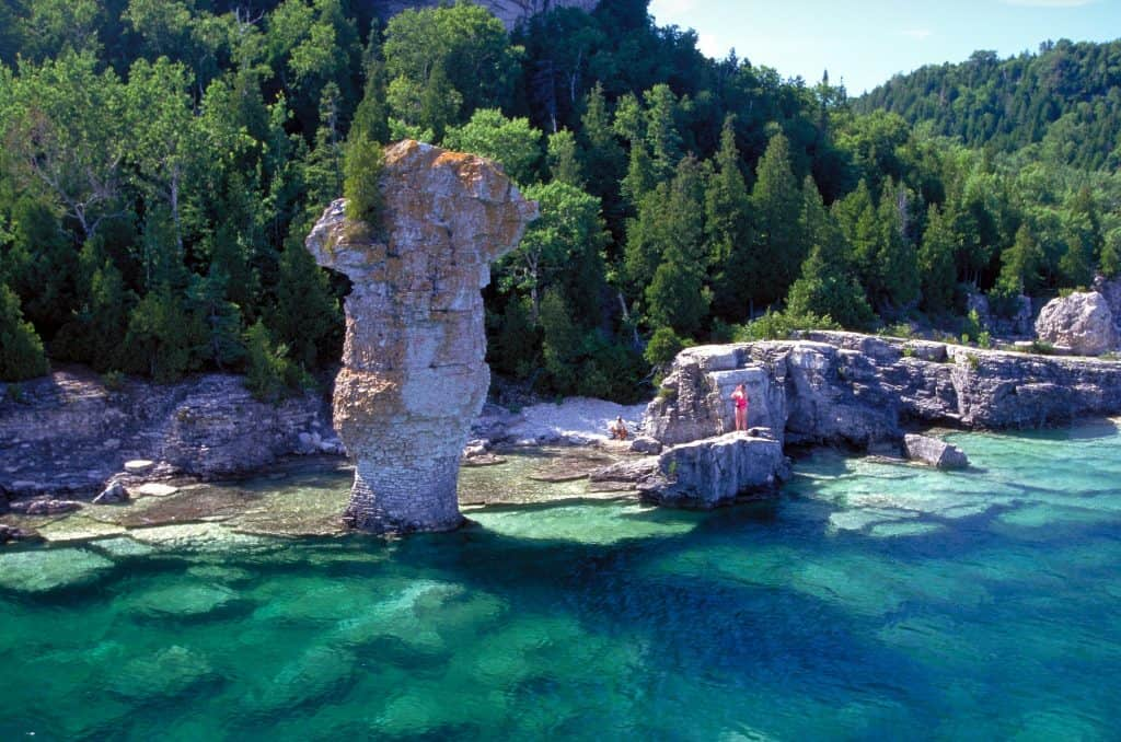 flower pot rocks-bruce peninsula-ontario