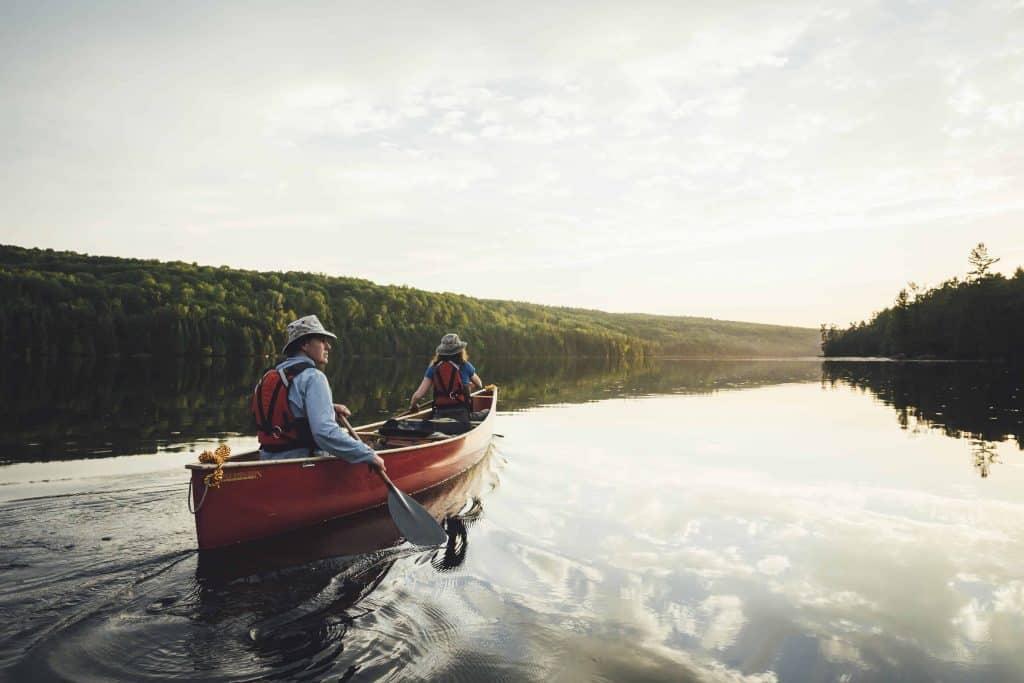 canoe on lake-algonquin park-ontario
