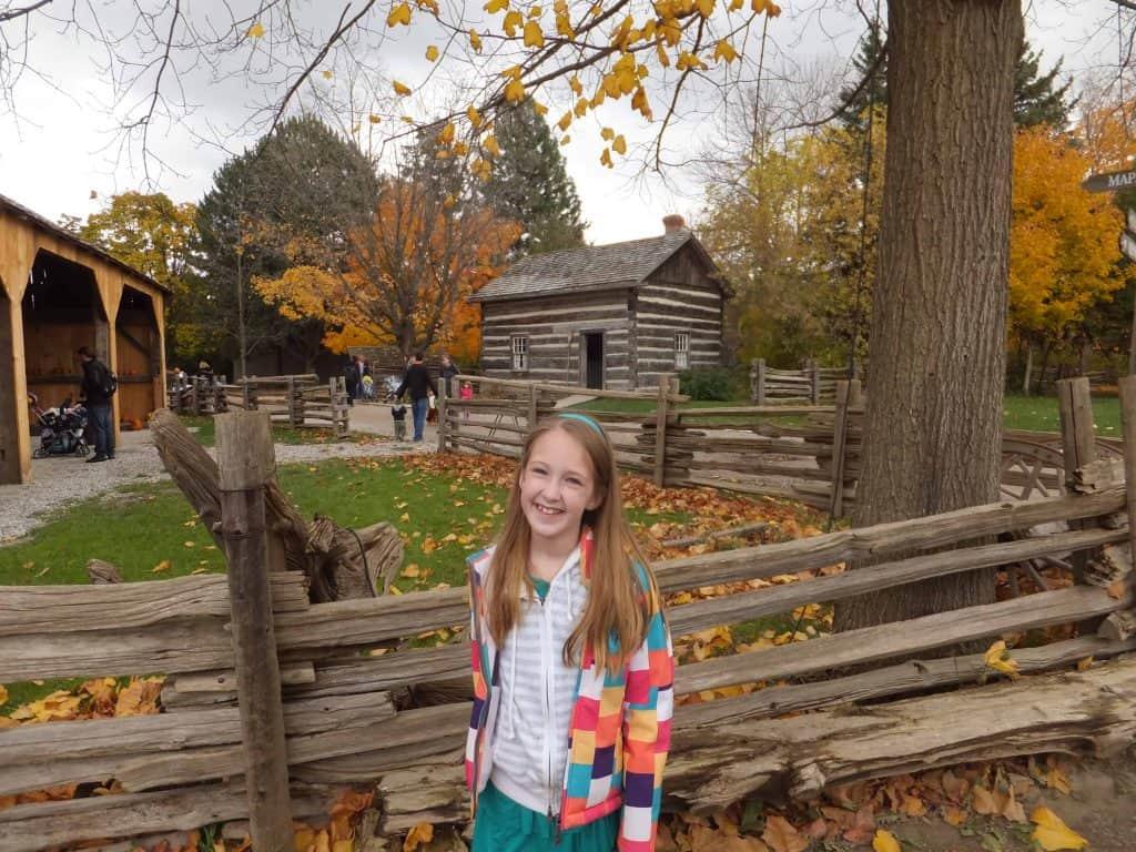 girl at black creek pioneer village-fall