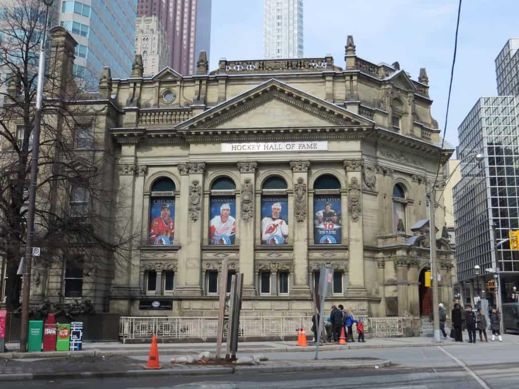 exterior of hockey hall of fame-Toronto Ontario