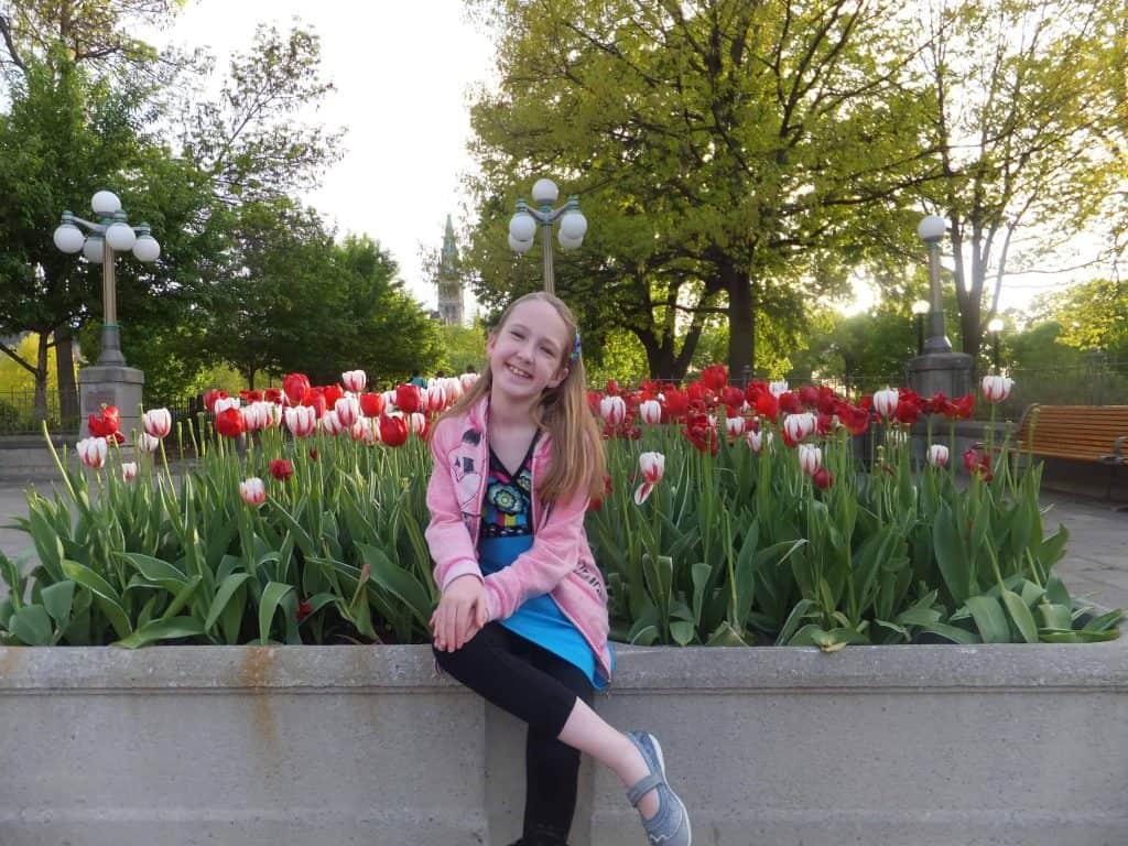 girl with tulips-ottawa