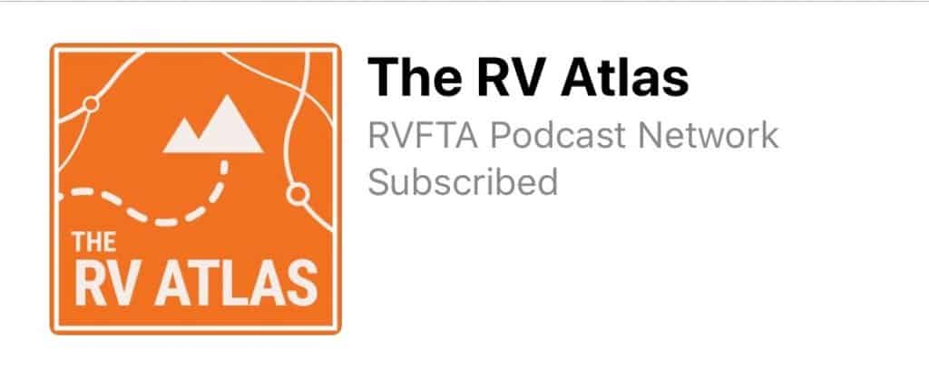 The RV Atlas podcast logo