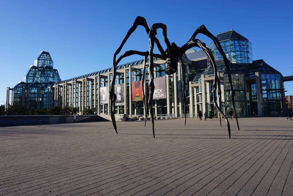 maman sculpture-exterior national gallery-ottawa