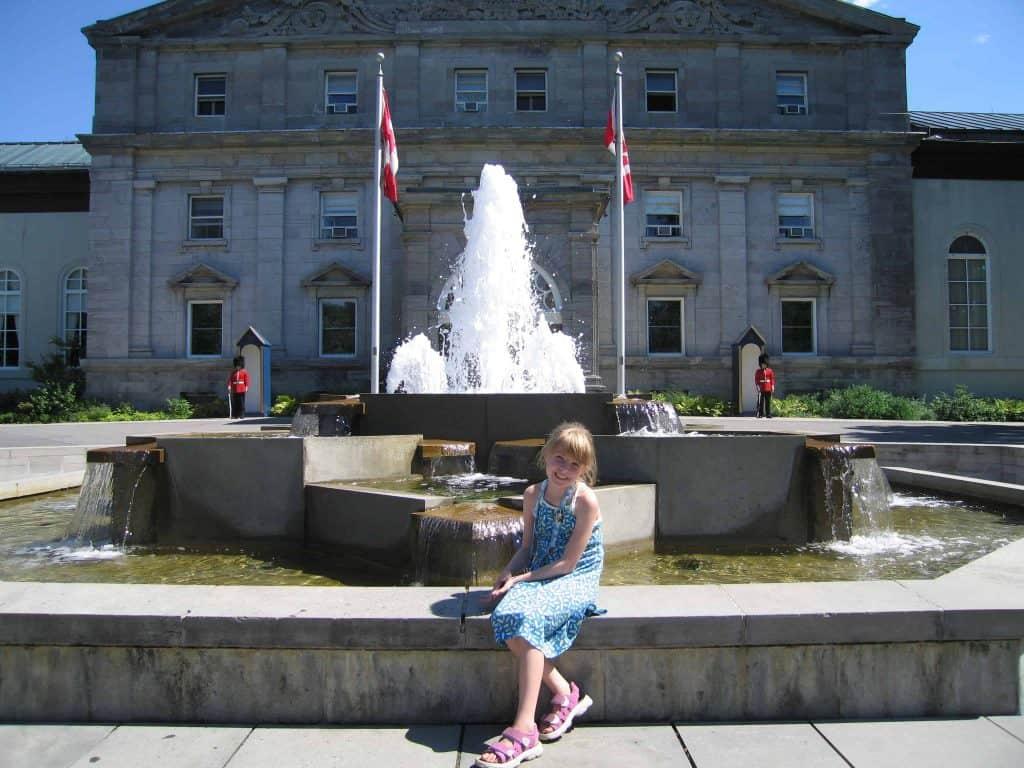 young girl outside rideau hall-ottawa