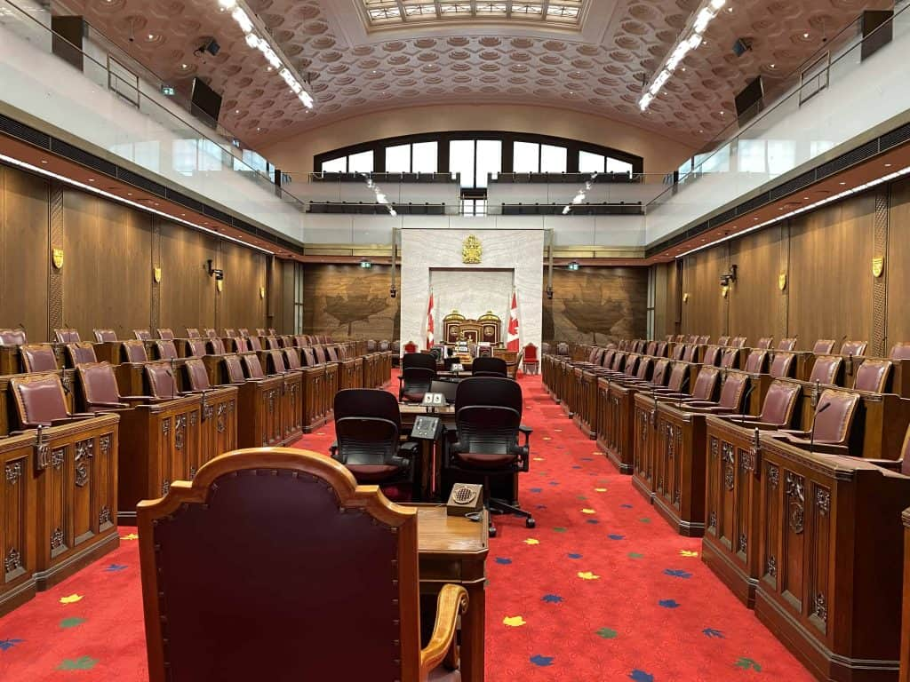 canadian senate chamber-ottawa