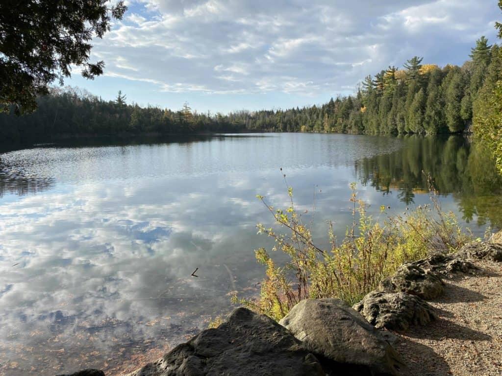 crawford lake-reflection fall day