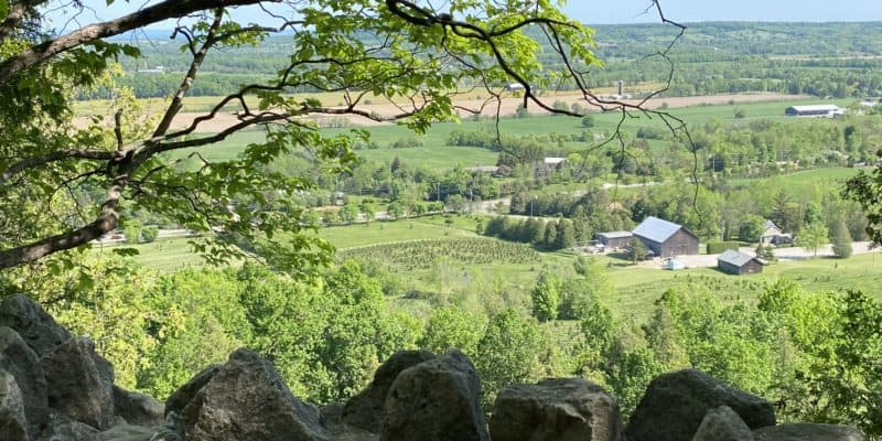 View from trail at Rattlesnake Point Conservation Area.